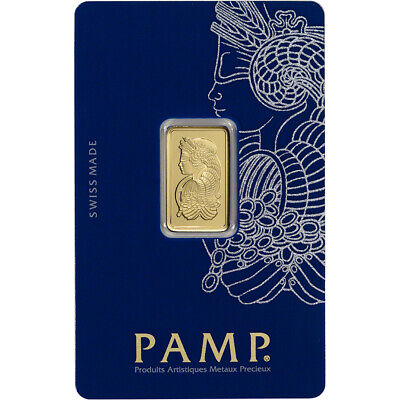 5 gram Gold Bar - PAMP Suisse - Fortuna - 999-9 Fine in Sealed Assay