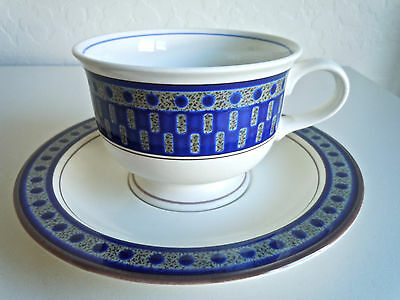 Mikasa Aztec Blue Cup and Saucer