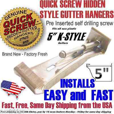 5 inch K Style Gutter Hanger Bracket with pre inserted self drilling screwclip