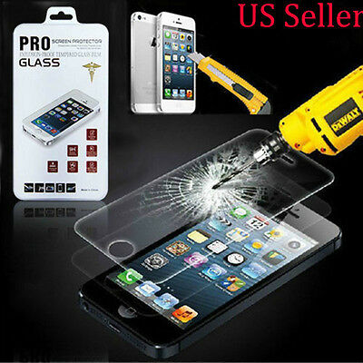 TEMPERED GLASS SCREEN PROTECTOR iPhone 5 5S 5C USA