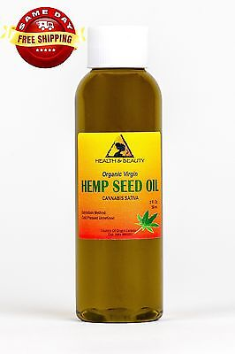 HEMP SEED OIL UNREFINED ORGANIC by H-B Oils Center COLD PRESSED PURE 2 OZ
