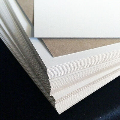 22 pt Chipboard - pack of 50 - white on one side 8-5x11 sheets 0-022 scrapbook