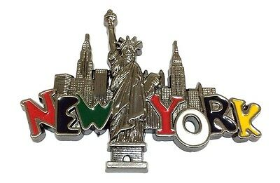 New York City Skyway and Statue of Liberty NY Souvenir Gift Fridge Magnets GRAY