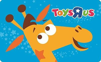 ToysRUs Gift Card 25 50 or 100 - Email delivery