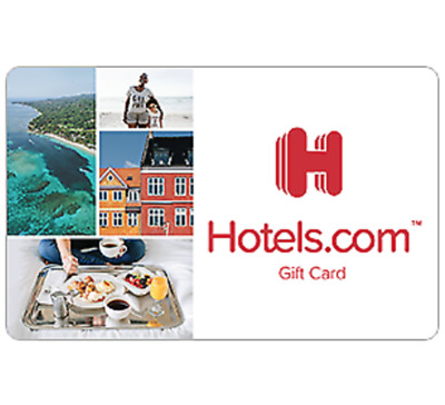 Hotels-com Gift Card - 50 100 or 200 - Fast Email delivery