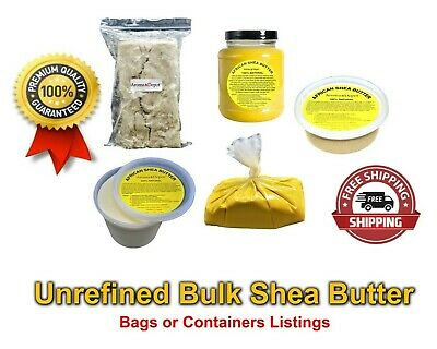 Unrefined African Shea Butter 2 oz - 50 lb Raw 100 Natural Organic Pure Ghana