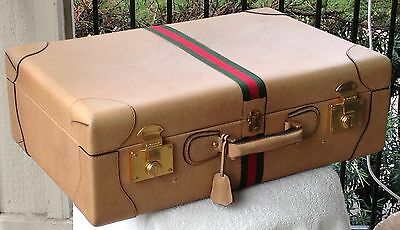 Rarest of the rare –50's-early 60's GUCCI calfskin suitcase 8-5x17x26 Italy