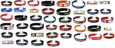 NCAA Collegiate Team Color Fan Band Ribbon Bracelets - Pick your team