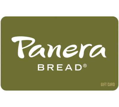 Panera Bread Gift Card - 25 50 100 - Email delivery