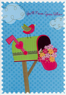 Red Bird on Green Mailbox Secret Pal - Designer Greetings Mothers Day Card