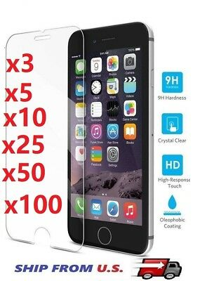 Tempered Glass Screen Protector for iPhone 66P 77P 88P X XSXS MAX XR lot