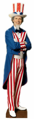UNCLE SAM FOURTH 4TH OF JULY LIFESIZE CARDBOARD STANDUP STANDEE CUTOUT POSTER