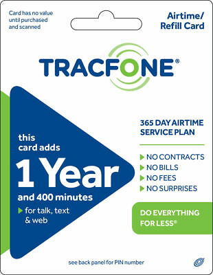 TracFone 1 Year Plan - 365 Days400 Minutes400 Text400MB Data