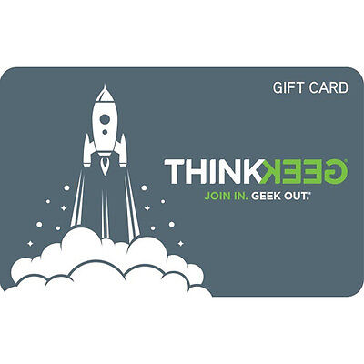 Gamestop Thinkgeek Gift Card - 25 50 or 100 - Email delivery