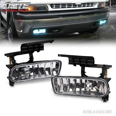 FIT FOR 00-06 CHEVY SUBURBAN TAHOE CLEAR BUMPER FOG LIGHTS DRIVING LAMPS