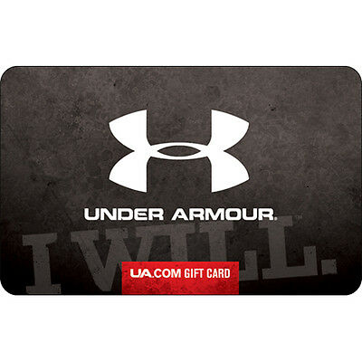 Under Armour Gift Card - 25 50 or 100 - Email delivery