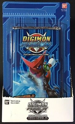 2013 Bandai Digimon Fusion New World CCG FIVE Booster Packs SEALED BLISTER PACKS
