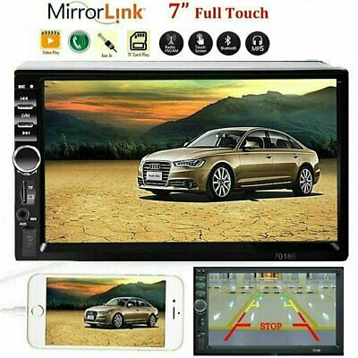 7 HD Bluetooth Touch Screen Car Stereo Radio 2 DIN FMMP5MP3USBAUX Player