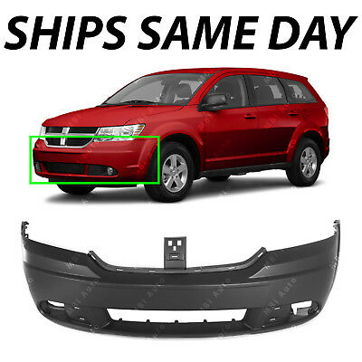 NEW Primered - Front Bumper Cover Replacement for 2009-2018 Dodge Journey 09-18
