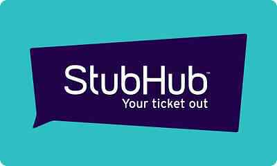 StubHub Gift Card - 25 50 100 150 or 200 - Email delivery
