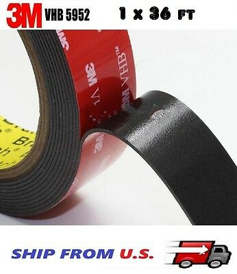 3M 1 x 36 ft  VHB Double Sided Foam Adhesive Tape 5952 Automotive Mounting 24mm