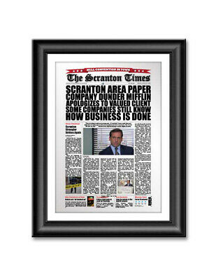 The Office Dunder Mifflin Newspaper Article Product Recall 13x19