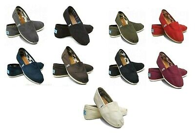 100 AUTHENTIC TOMS CLASSIC WOMEN CANVAS SHOES BRAND NEW- ALL SIZES