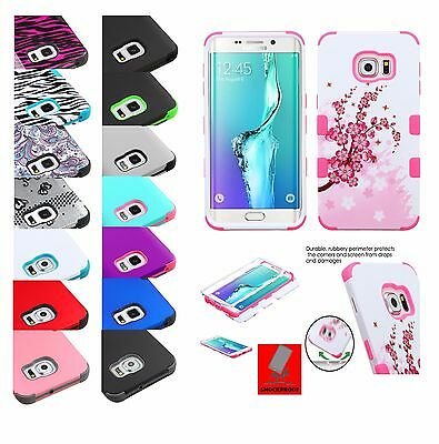 For Samsung GALAXY S6  Edge  Plus - HYBRID Shockproof Rubber Case Phone Cover