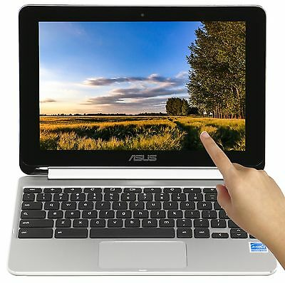 New Asus Flip 2-in-1 Touch 10-1 Quad Core 1-8GHz 2GB RAM 16GB SSD Chromebook
