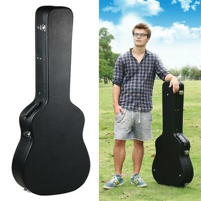 Acoustic Hard Shell Guitar Case 41 Wooden Guitar Carrying Case Faux Leather
