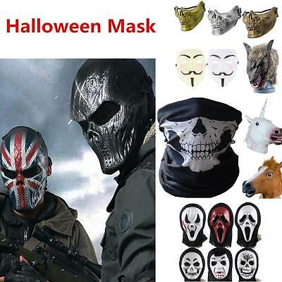 COSPLAY HALLOWEEN PARTY COSTUME HORSE HEAD MASK ADULT MASQUERADE PARTIES W