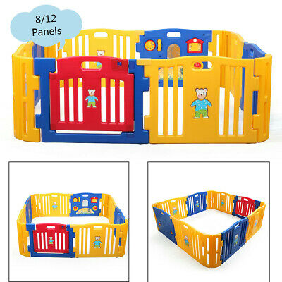 812 Panels Baby Playpen Kids Safety Fence Play Center PlayYard Kids Bbay pen