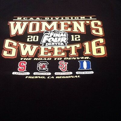 NCAA SWEET 16 Womens Basketball Unisex Shirt Size Large March Madness 2012