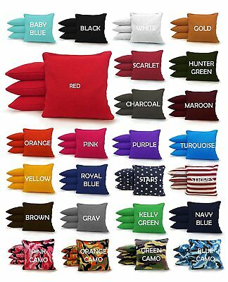 Set of 8 Cornhole Bags Regulation Size - 25 Colors -High Quality -  Corn Filled