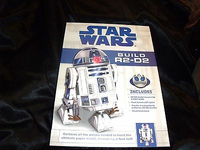 NEW IN SEALED BOX -Star Wars Build R2-D2Kit LED Lights Audio Chips - Book