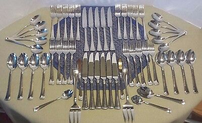 J A Henckels Zwilling Angelico Silverware  - Set of 55 - Stainless 1810
