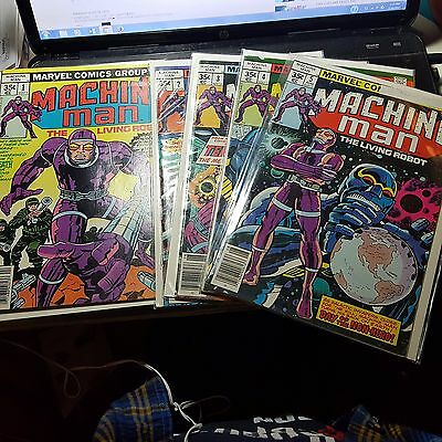 Marvels Machine Man Golden Age Comic Lot 1-5 Very Good Condition