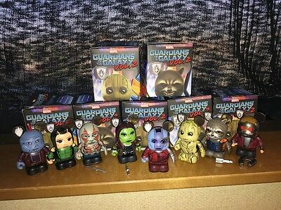 Guardians of the Galaxy Vol- 2 Vinylmation Complete Set of 8 w Nebula Chaser