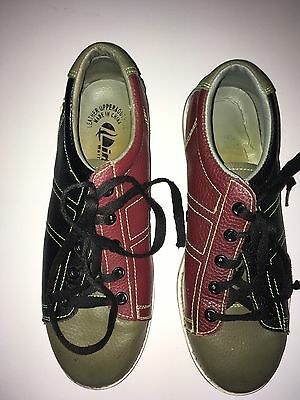 Vintage Linds Mens Bowling Shoes Size 6-7 Classic Red Black - Green