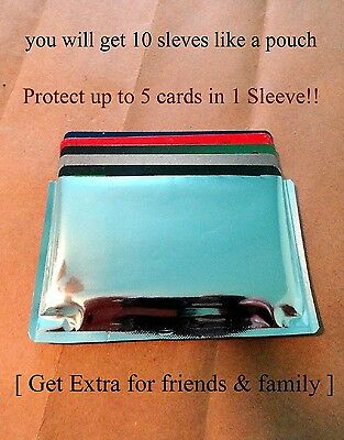 10-RFID High Level Blocking-Credit Card Sleeves like a pouch and is Waterproof