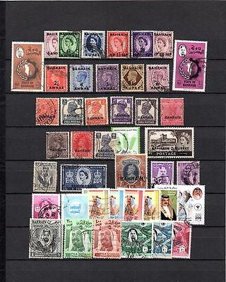 BAHRAIN  BRITISH COLONIES COLLECTION OF Used STAMPS Lot BAH 402