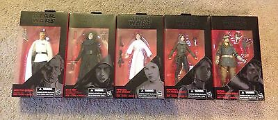 Star Wars Black Series 6 inch Lot of 5 figures NEW The Force Awakens Rogue One