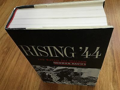 Rising 44 The Battle For Warsaw Hardcover Book-Norman Davies-Signed-1St Edition