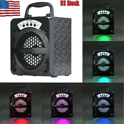 Outdoor Bluetooth Wireless Portable Speaker Super Bass with USBTFAUXFM Radio
