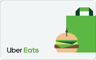 Uber EATS Gift Card - 25 50 or 100 - Email delivery