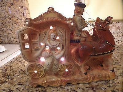 Vintage horse - carriage lamp