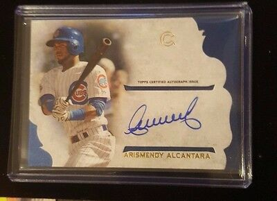 2015 TOPPS SUPREME BASEBALL ARISMENDY ALCANTARA ON CARD AUTOGRAPH CARD