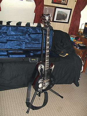 Custom Schecter Electric Guitar with case Strap and Pro cable