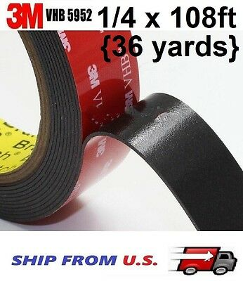 3M 14 x 108 Ft VHB Double Sided Foam Adhesive Tape 5952 Automotive