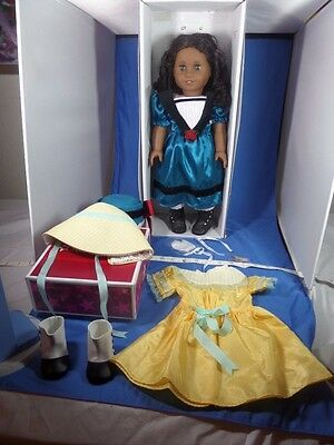 LOT American Girl Retired CECILE Doll w Box-NEW CECILE SUMMER Outfit- Accessory